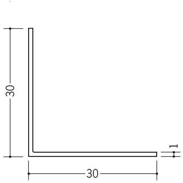 アングル 等辺 ビニール アングル30(t=1.0) ホワイト 1.82m  36112-1