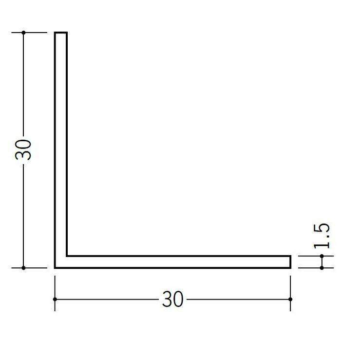アングル 等辺 ビニール アングル30(t=1.5) ホワイト 1.82m  36012-1