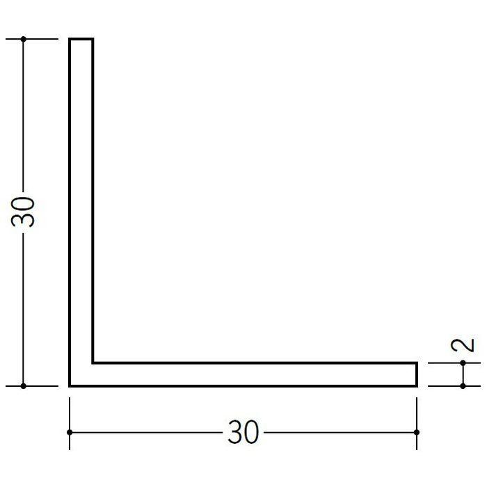 アングル 等辺 ビニール アングル30(t=2.0) ホワイト 1.82m  36340-1