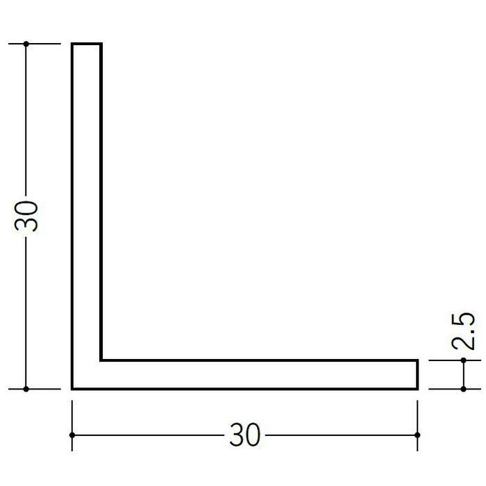 アングル 等辺 ビニール アングル30(t=2.5) ホワイト 1.82m  36341-1