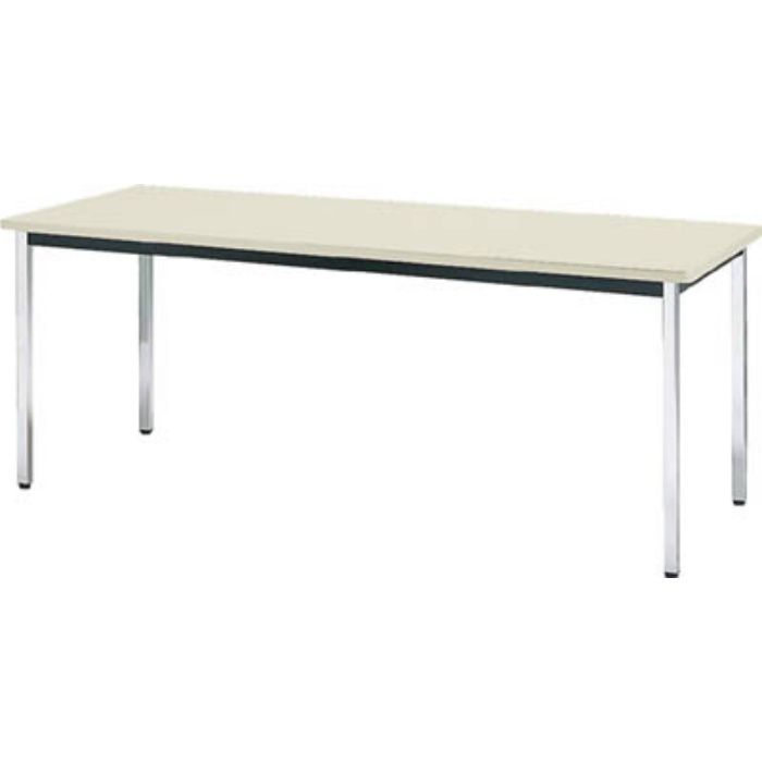 TDS1560 会議用テーブル 1500X600X700 角脚 下棚無し ネオグレー