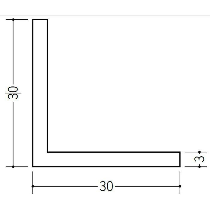アングル 等辺 ビニール アングル30(t=3.0) ホワイト 2.73m  36184-2