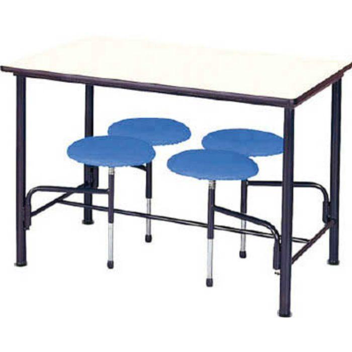 STM1275B 食堂テーブル 4人掛 ブルー