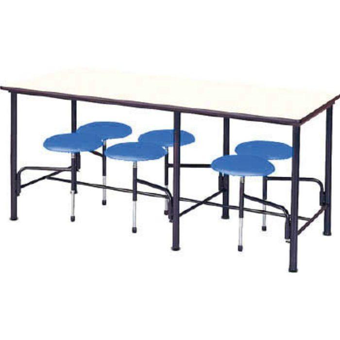 STM1875B 食堂テーブル 6人掛 ブルー