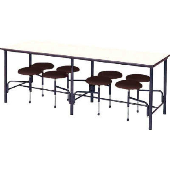 STM2175BR 食堂テーブル 8人掛 ブラウン