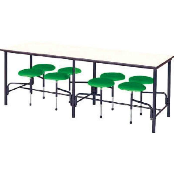 STM2175GN 食堂テーブル 8人掛 グリーン