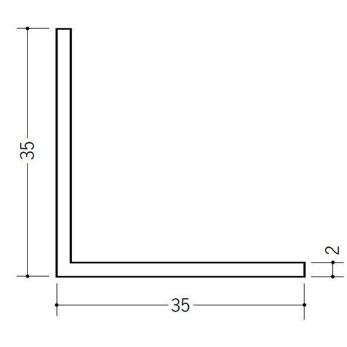 アングル 等辺 ビニール アングル35(t=2.0) ホワイト 2.73m  36113-2