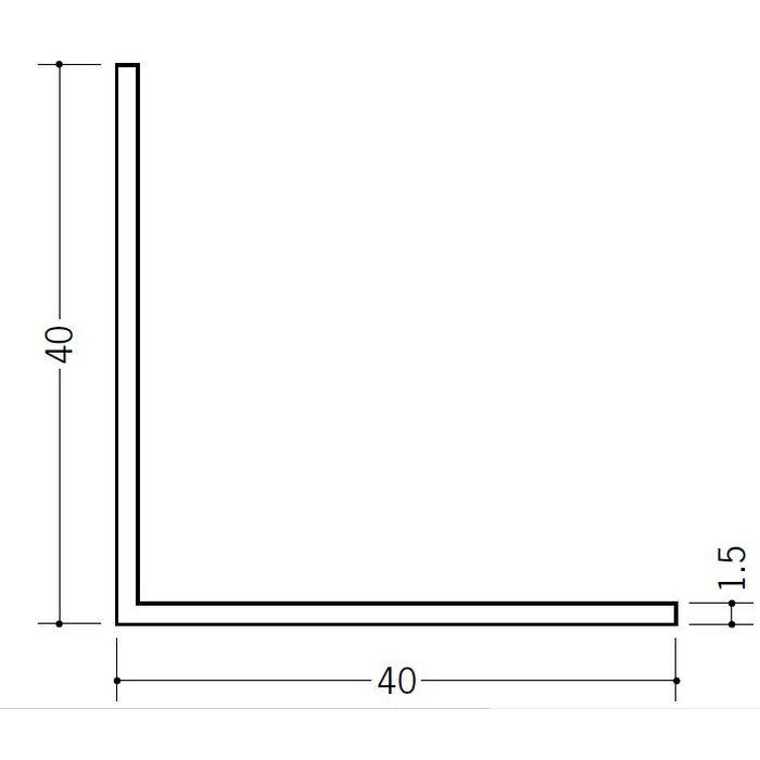 アングル 等辺 ビニール アングル40(t=1.5) ホワイト 1.82m  36124-1