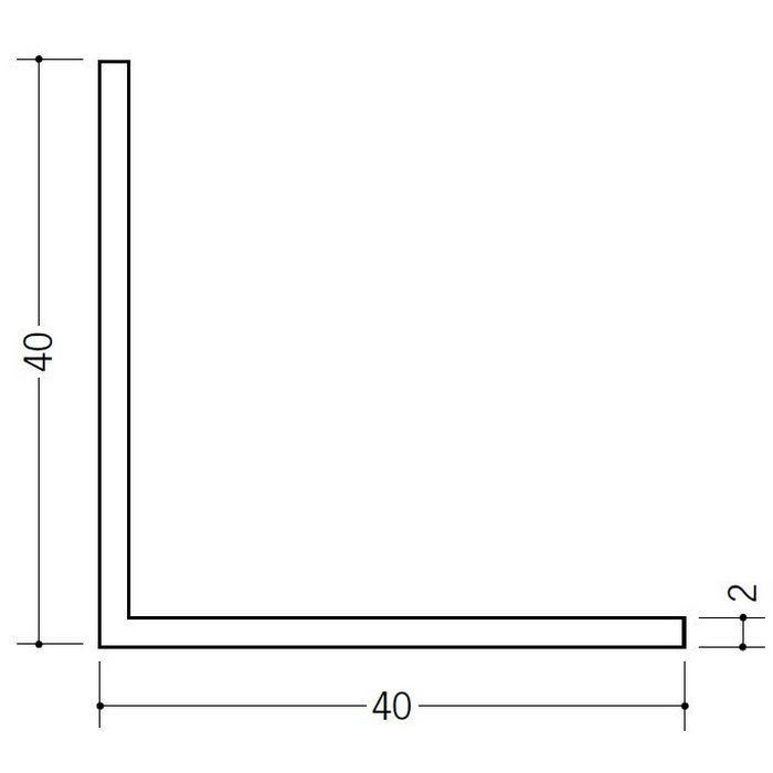 アングル 等辺 ビニール アングル40(t=2.0) ホワイト 2.73m  36024-2