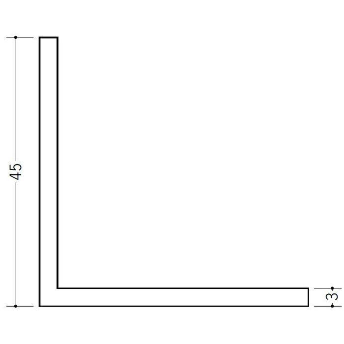 アングル 等辺 ビニール アングル45(t=3.0) ホワイト 2.73m  36346-2