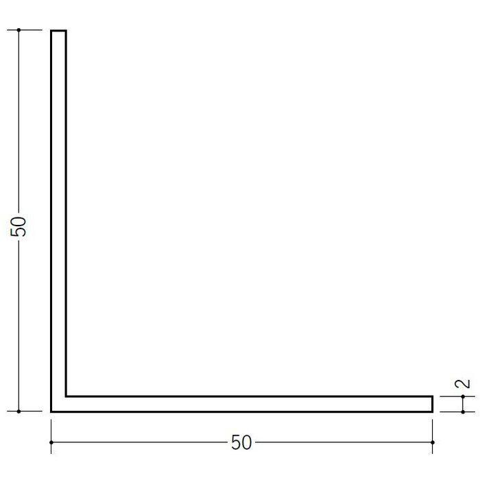 アングル 等辺 ビニール アングル50(t=2.0) ホワイト 1.82m  36025-1