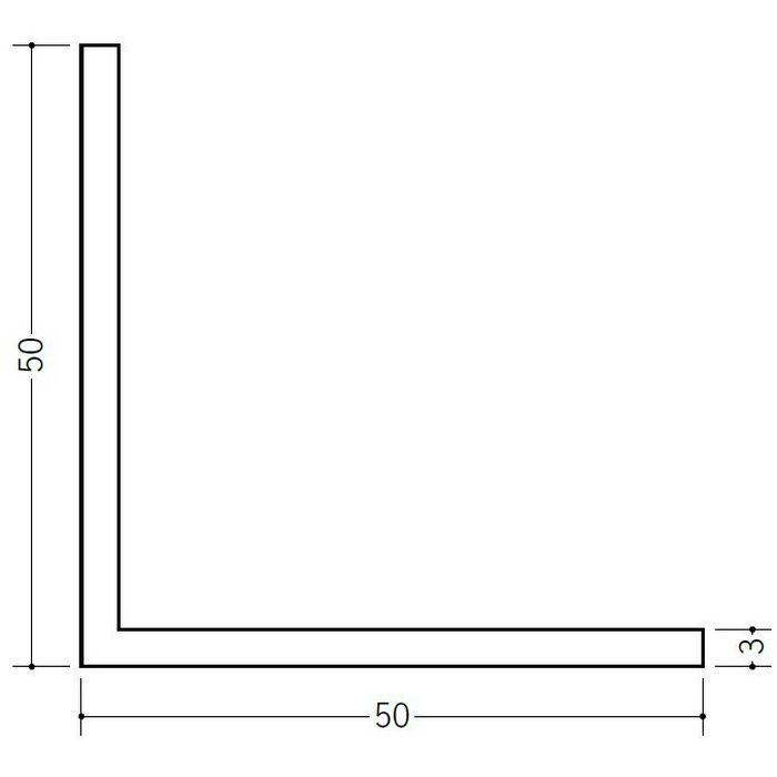 アングル 等辺 ビニール アングル50(t=3.0) ホワイト 1.82m  36188-1