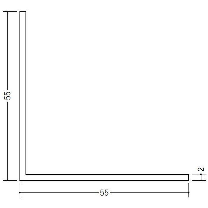 アングル 等辺 ビニール アングル55(t=2.0) ホワイト 1.82m  36348-1