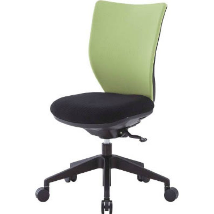 3DAS45M0LGN 回転椅子3DA ライムグリーン 肘なし シンクロロッキング