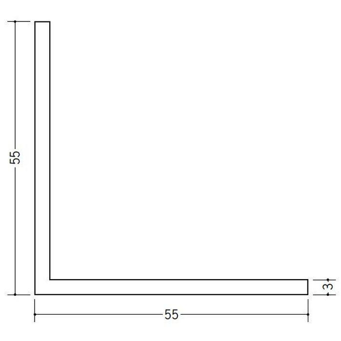 アングル 等辺 ビニール アングル55(t=3.0) ホワイト 2.73m  36350-2