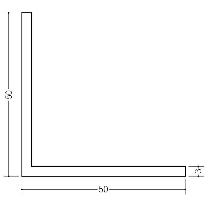 ソフトアングル 等辺 ビニール ソフトアングル50 ホワイト 2.5m  36033