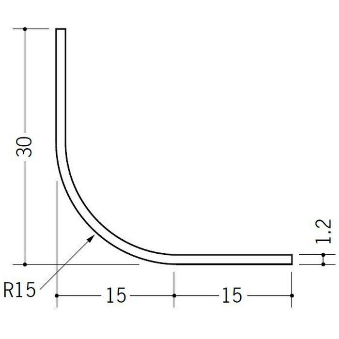 R付・面取りアングル 等辺 ビニール 15R-30×30 ホワイト 2.73m  01194-2