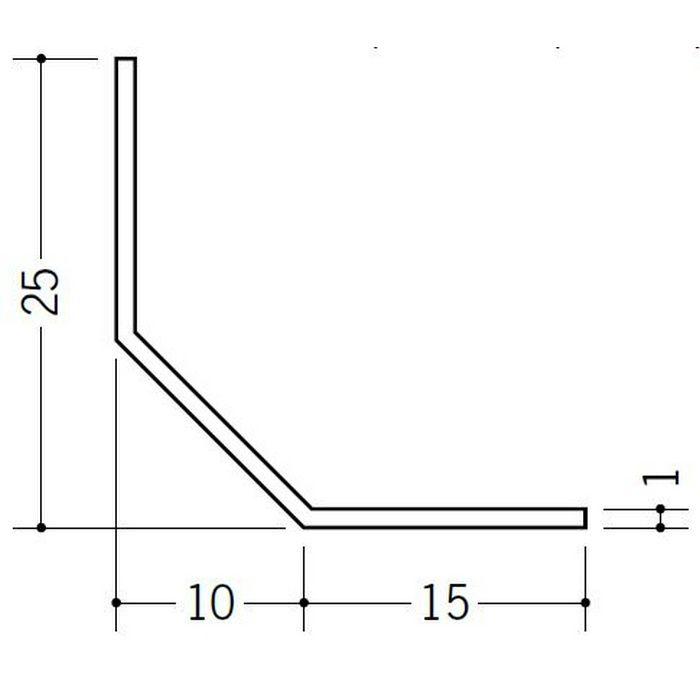 R付・面取りアングル 等辺 ビニール 面取L25-10M ホワイト 2.73m  01132-2