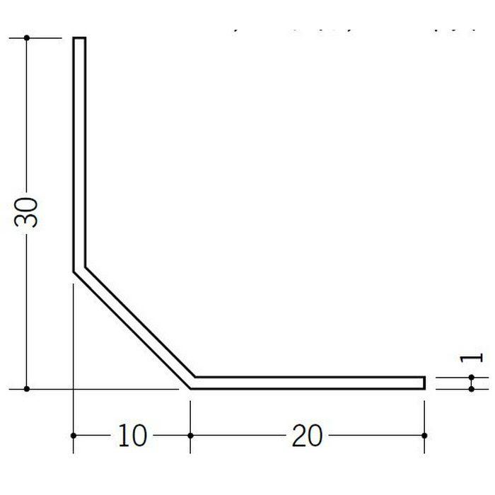 R付・面取りアングル 等辺 ビニール 面取L30-10M ホワイト 2.73m  01133-2