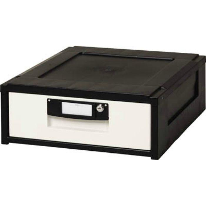 HG151BK 261777 事務収納 オフィスチェスト 425×509×164 黒