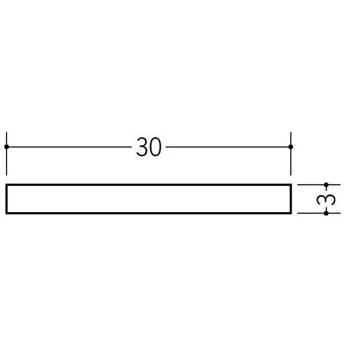 平角(フラットバー) ビニール 3×30 ホワイト 2m  35075