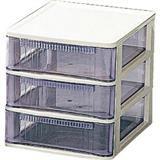 クリアテーブルチェスト TQ-A430 ホワイト/クリアブルー TQA430