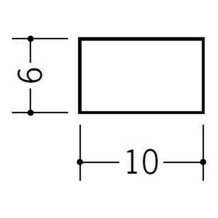 角棒・チャンネル ビニール 角棒6×10 ホワイト 2m  36091