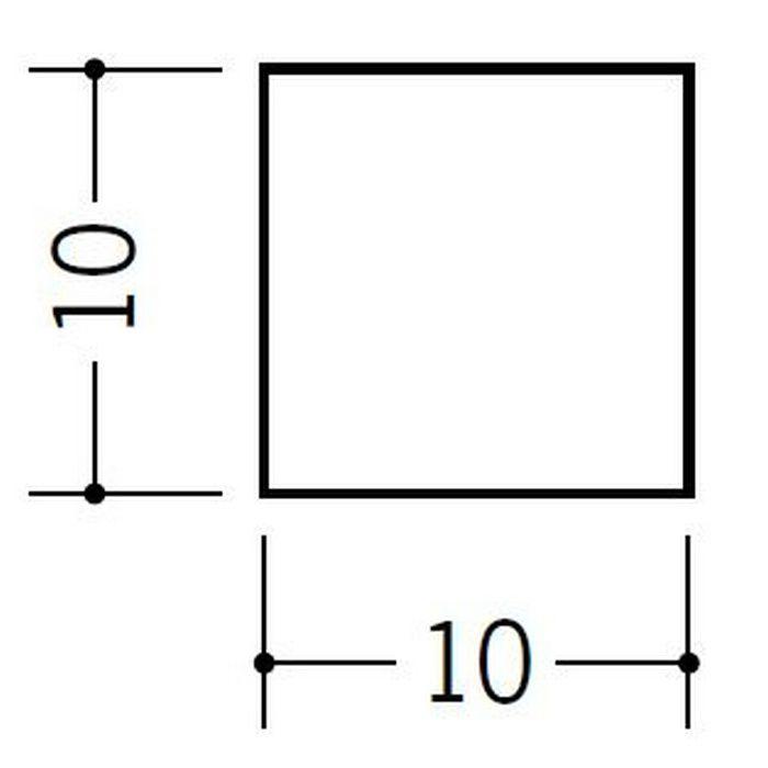 角棒・チャンネル ビニール 角棒10 ホワイト 2m  36079